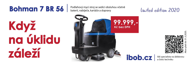 Akční nabídka podlahový mycí stroj s odsáváním Bohman 7 BR 56