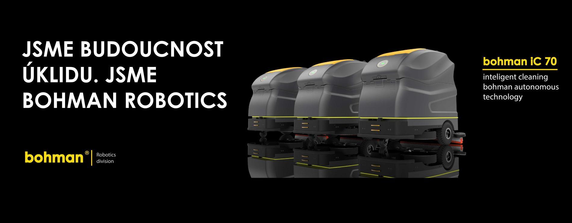 Bohman iC 70 - autonomní robotický mycí stroj