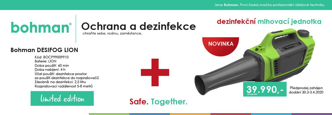 Bohman DESIFOG LION - dezinfekční mlhovací jednotka